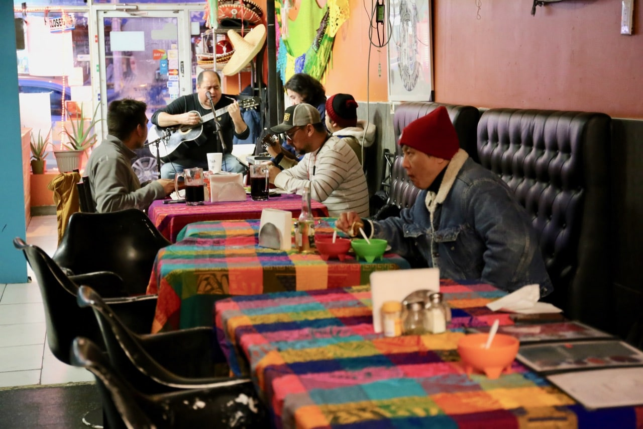 Tierra Azteca is where Mexican residents eat with their families on Bloor Street West.