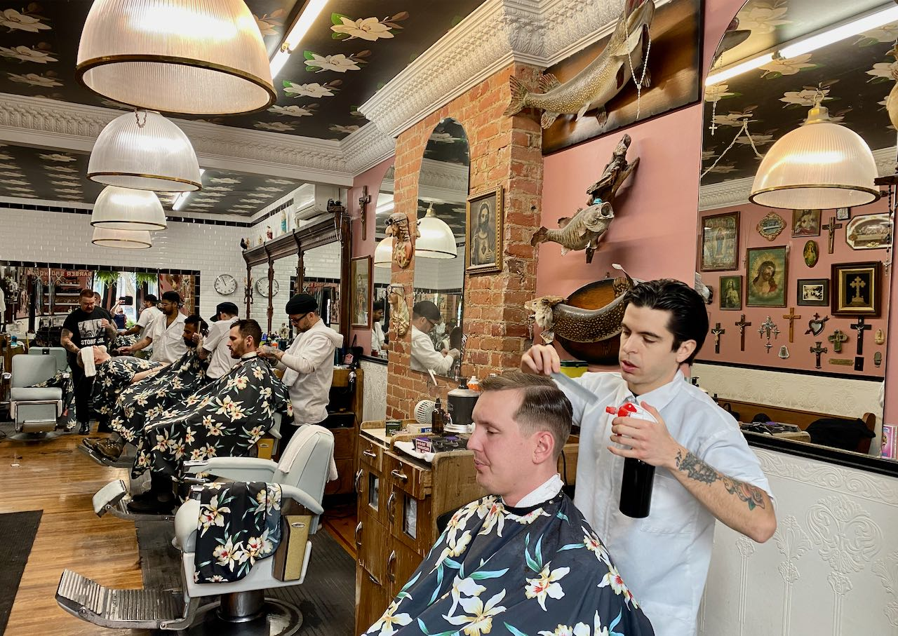 Toronto Barber Shop: Crows Nest in Kensington Market.