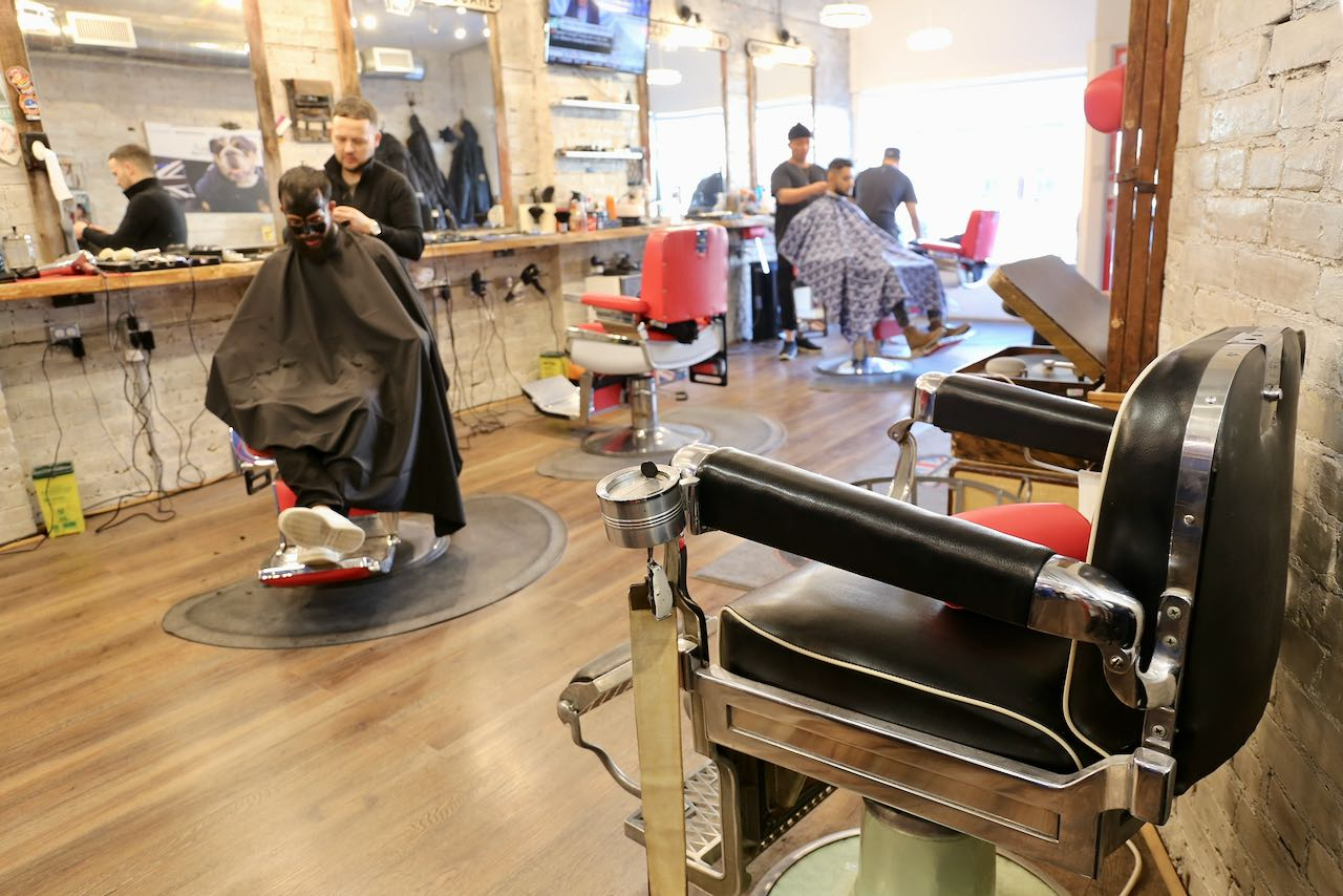 Little London is a Toronto barber shop in Leslieville.