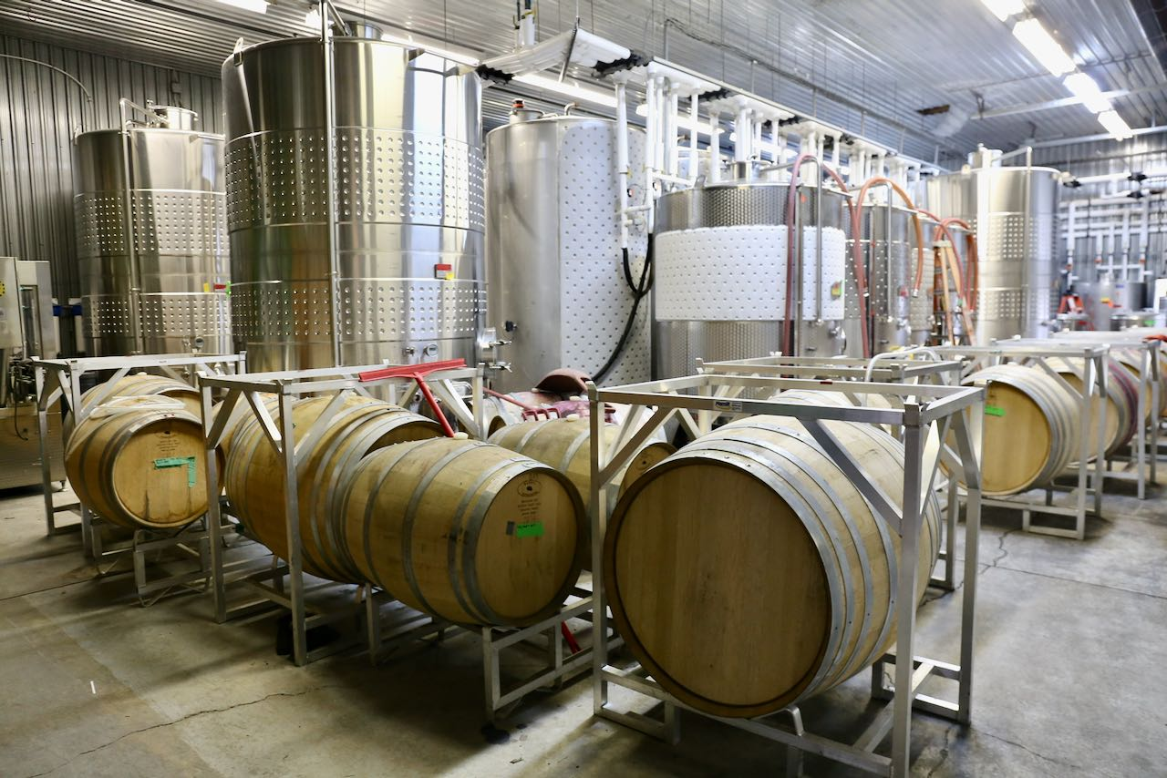 Enjoy a behind the scenes tour of Marynissen Estates Winery's production facility.
