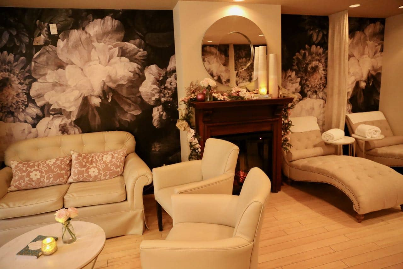 The relaxation room at Secret Garden Spa at Prince of Wales Hotel.