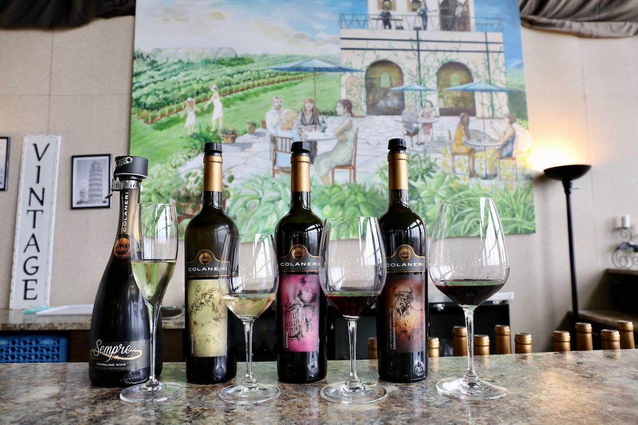 Taste Appassimento-style wines at Colaneri Estate Winery.