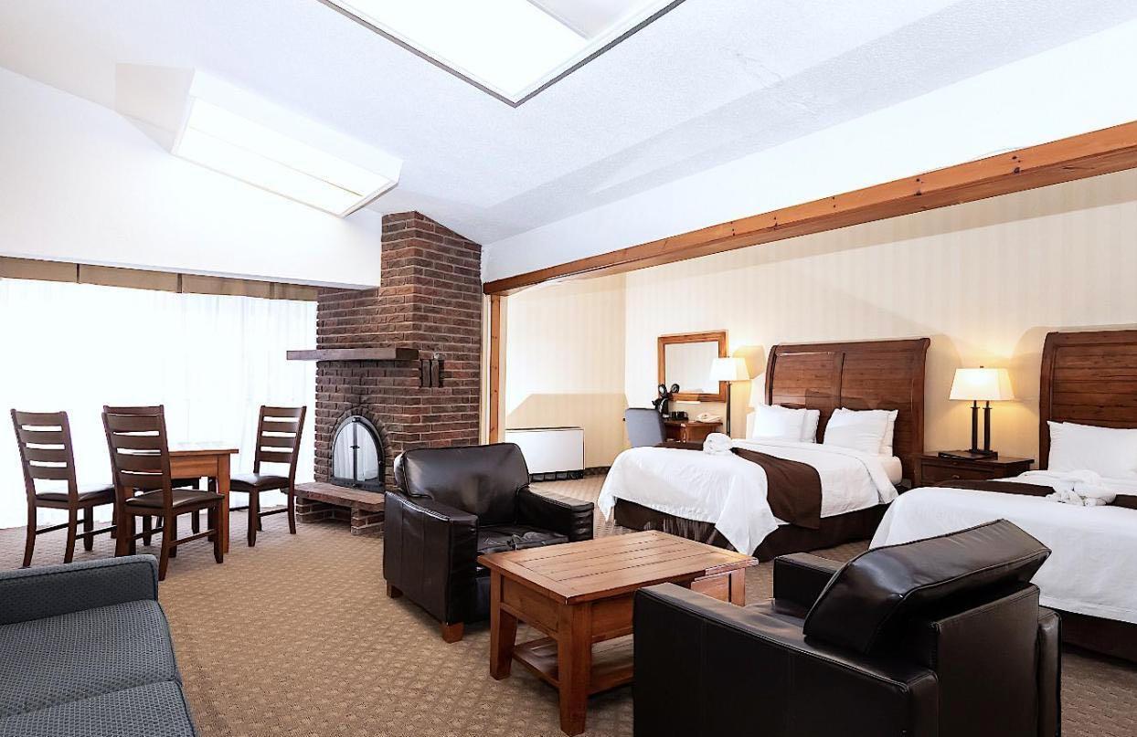 A luxurious suite at Hidden Valley Resort in Huntsville, Ontario.