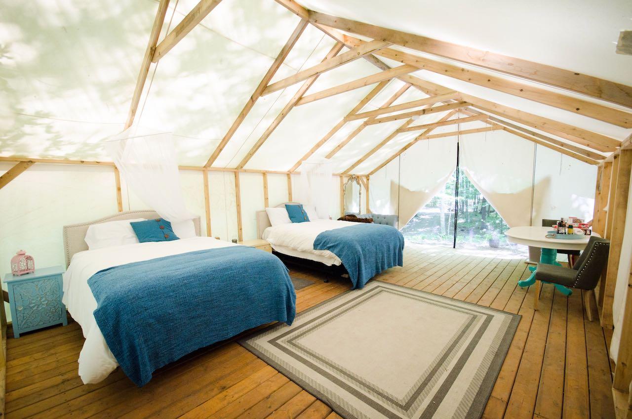 Elements Luxury Tented Camp in Renfrew, Ontario.