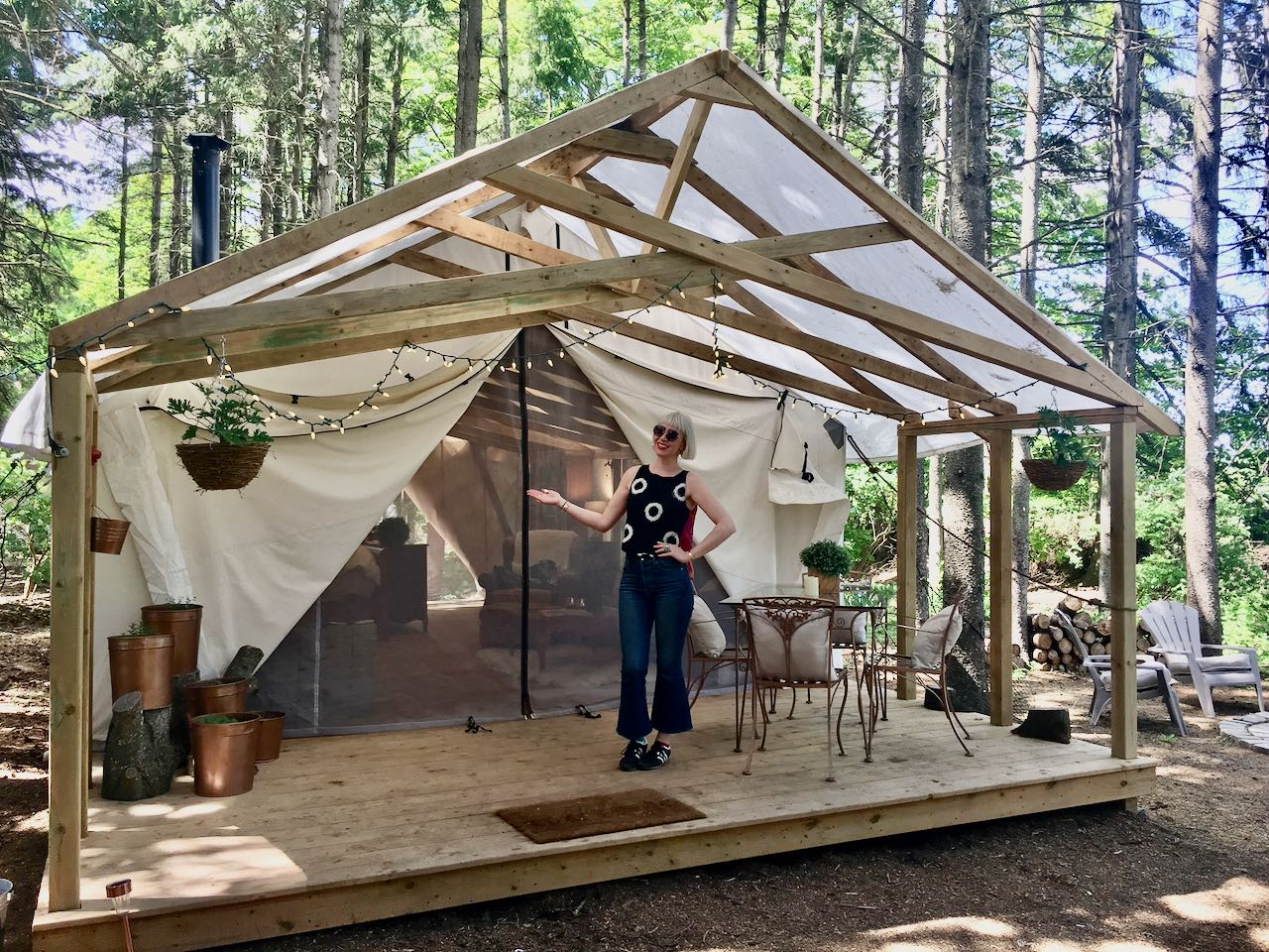 Glamping Ontario: A luxury tented camp at Alabaster Acres in Caledon.