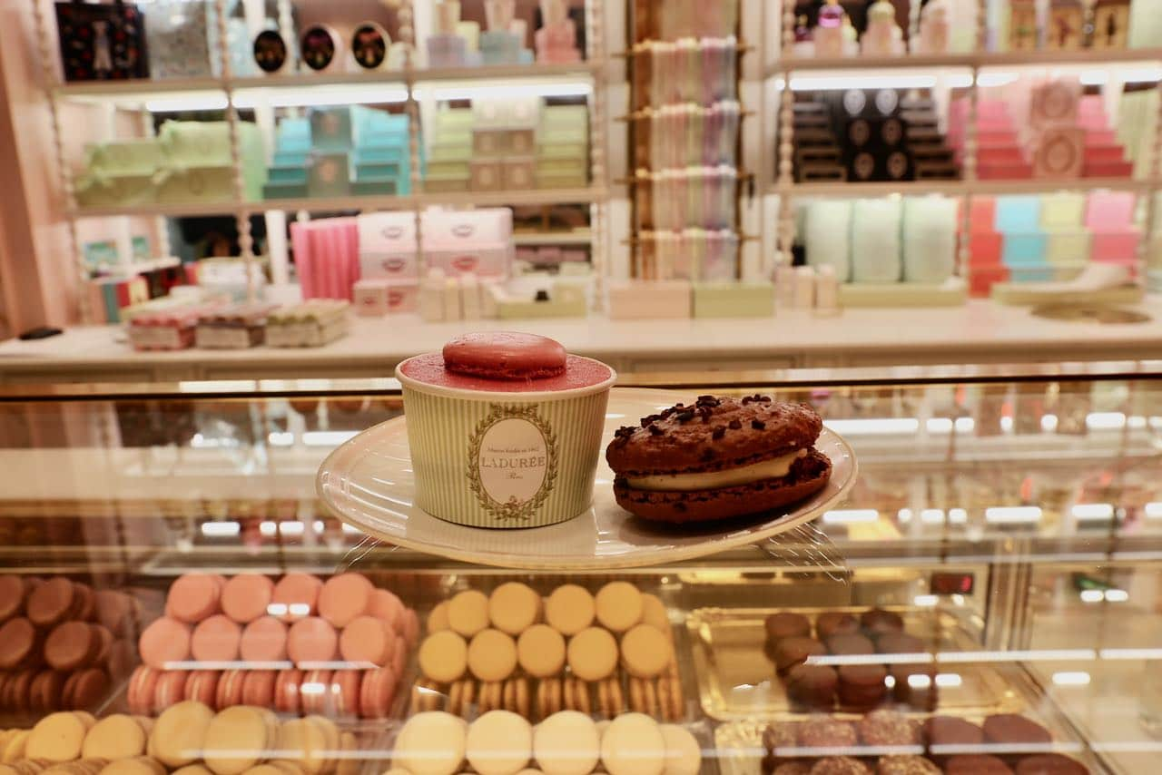 Toronto Ice Cream: Enjoy French inspired frozen desserts in Yorkdale Mall at Ladurée Cafe.