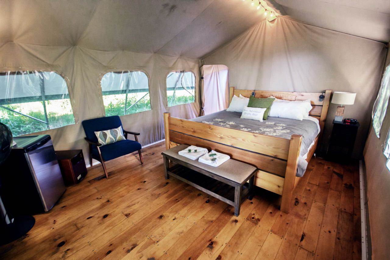 Long Point Eco-Adventures is our favourite Ontario glamping option for families.
