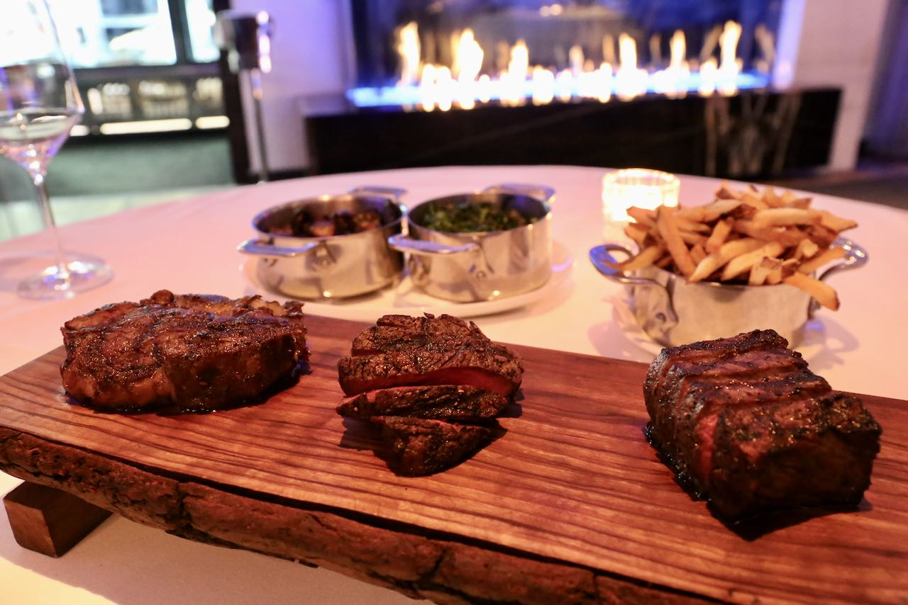 Toronto Steakhouses: Michael's on Simcoe offers premium steak tastings near Roy Thompson Hall.