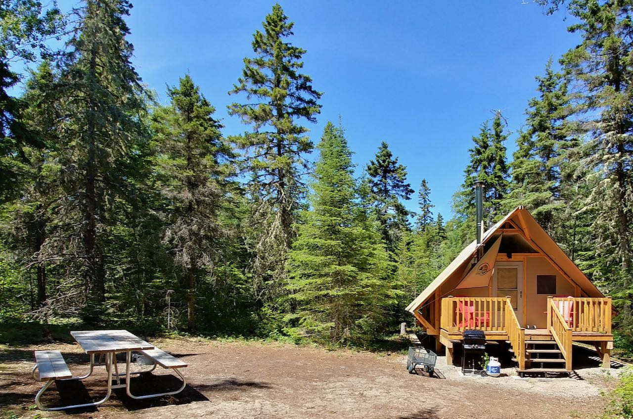 Pukaskwa National Park offers the best glamping near Ste. Saint Marie and Thunder Bay.