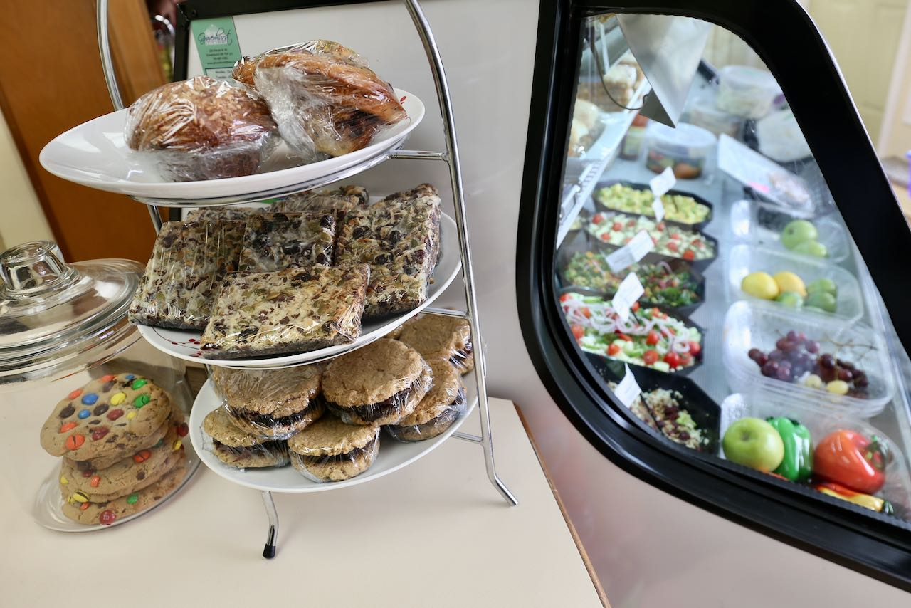 Well Fed Inc offers healthy homemade take out options like salads and sandwiches.