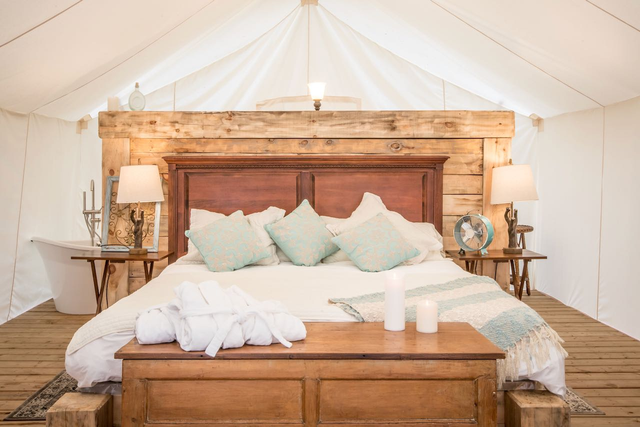 Whispering Springs is one of the closest glamping options from Toronto.