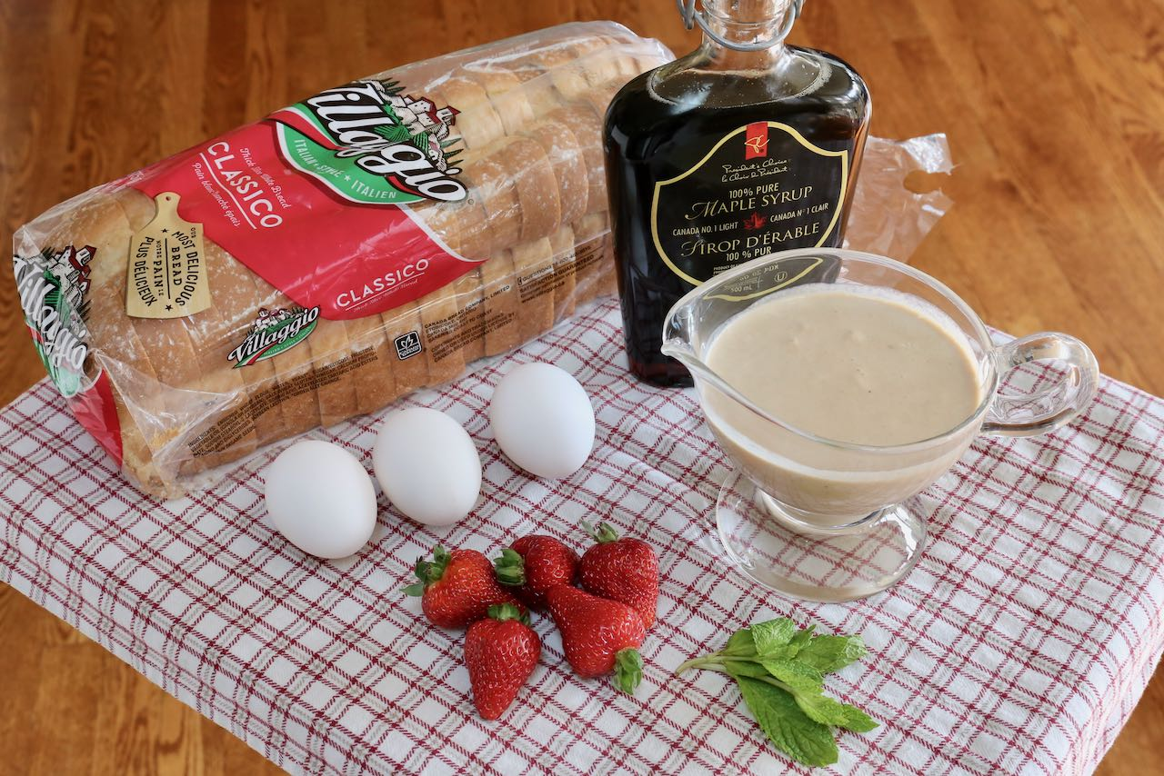 Use thick Italian bread slices to make homemade Irish Cream French Toast.