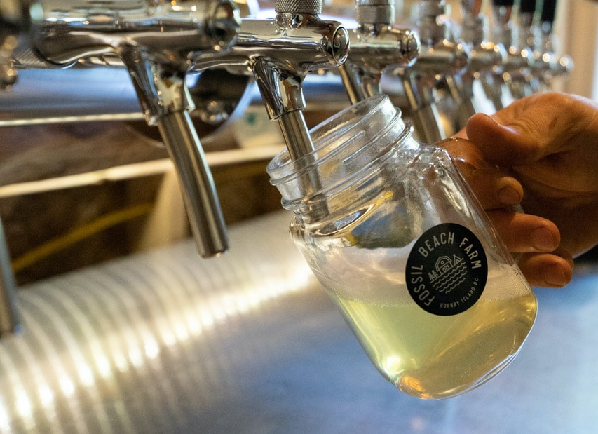 Fossil Beach Farm produces craft cider on Hornby Island.