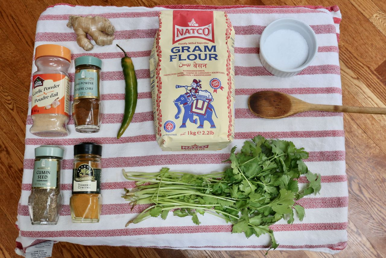 Ingredients you'll need to make Indian crepes.