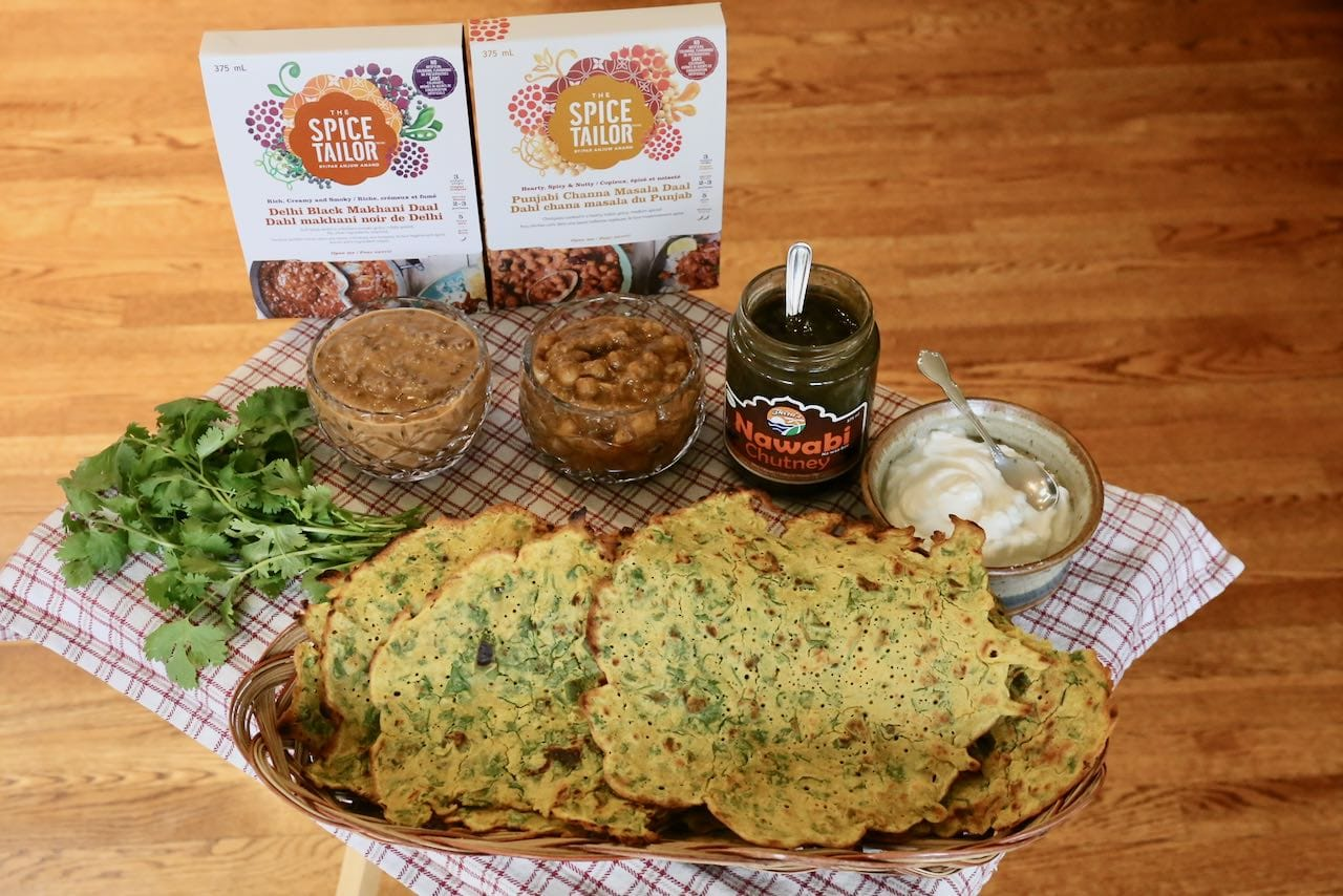 Serve Indian crepes with cilantro, yogurt, chutney and your favourite dahl for a delicious vegetarian meal idea.