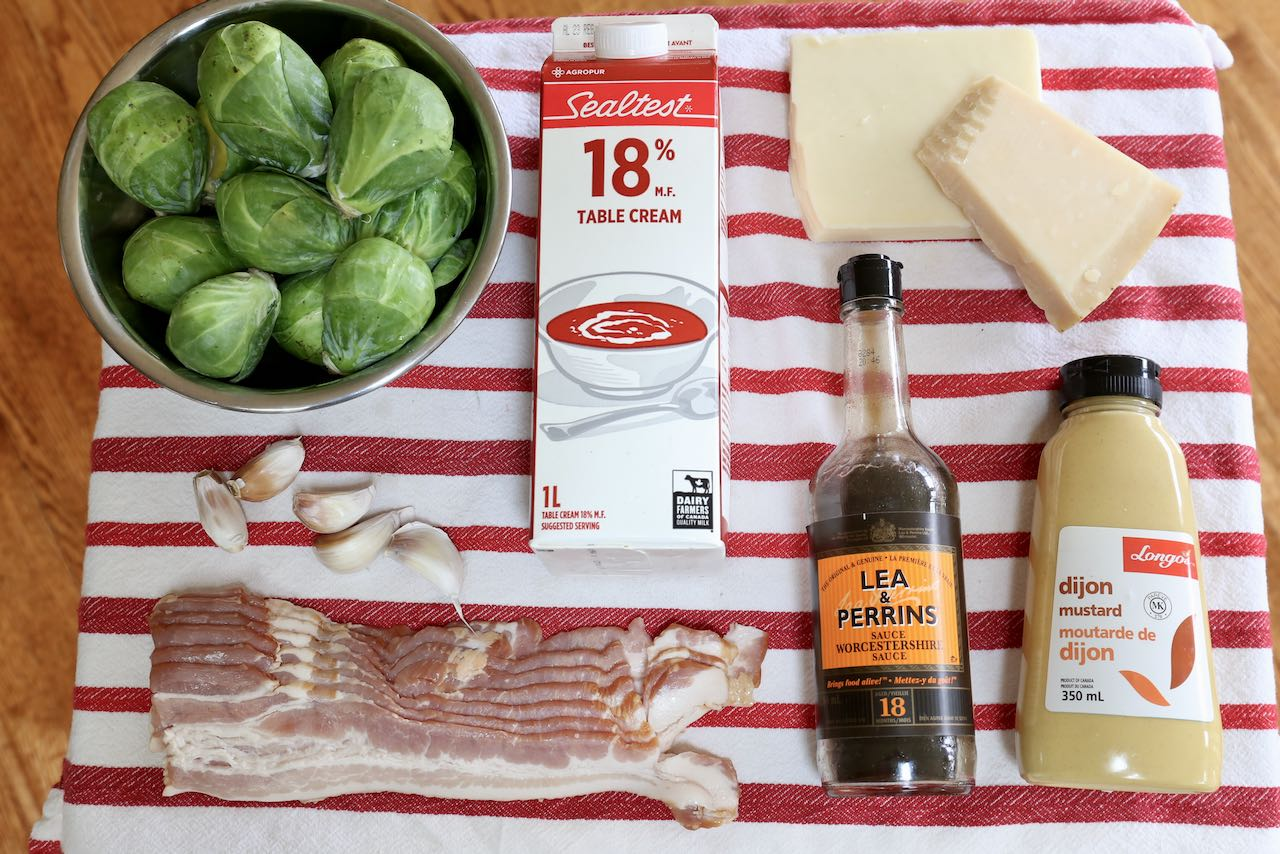 Ingredients you'll need to make Keto Brussels Sprouts.