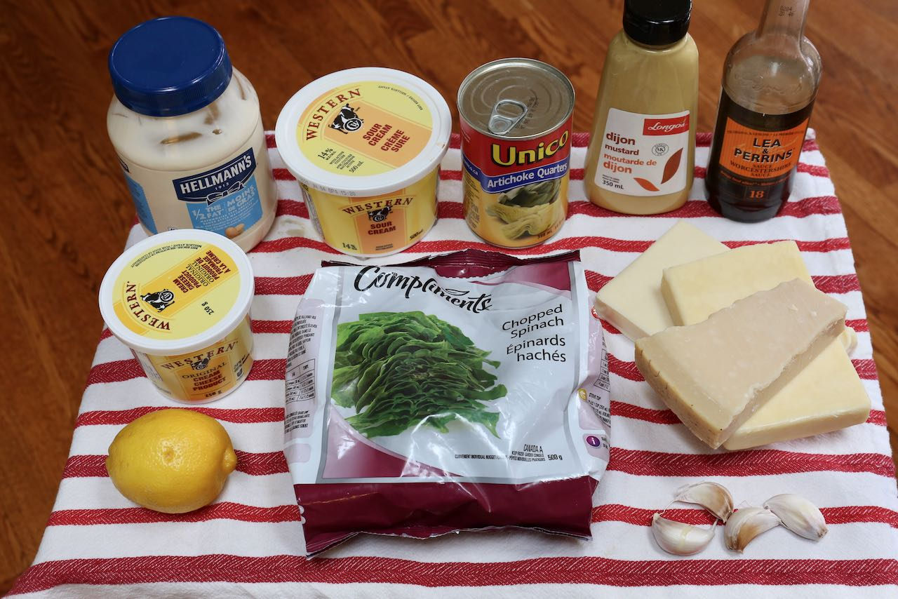 Ingredients you'll need to make homemade Keto Spinach Dip.