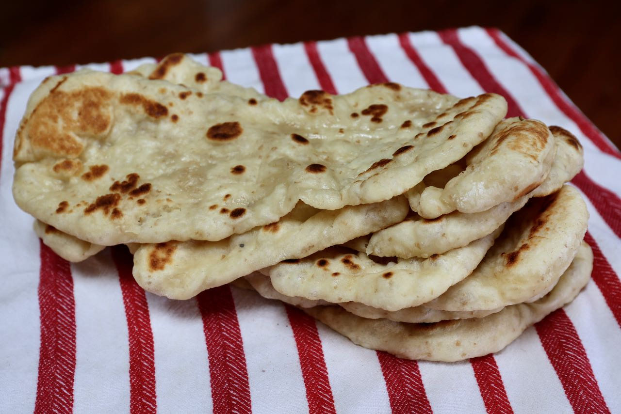 Prepare an Indian feast at home by making your own homemade sourdough naan.