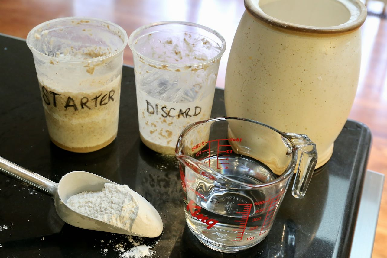 All you need to make sourdough starter is warm water, unbleached flour and patience.