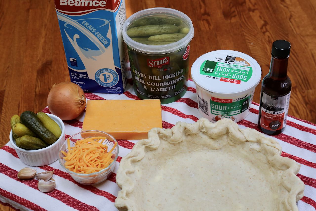 Ingredients you'll need to make homemade Pickle Pie.