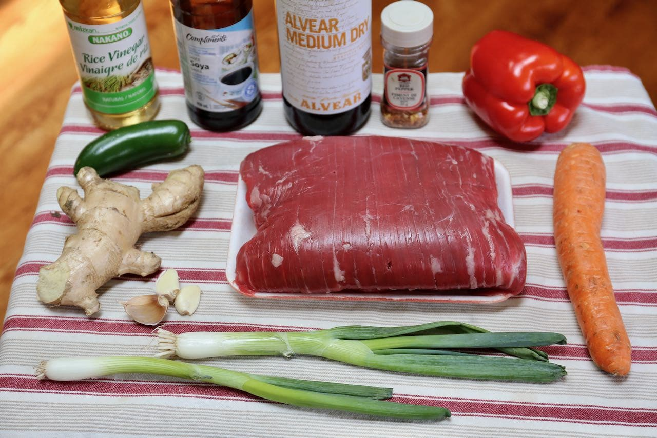 Ingredients you'll need to make Calgary Ginger Beef.