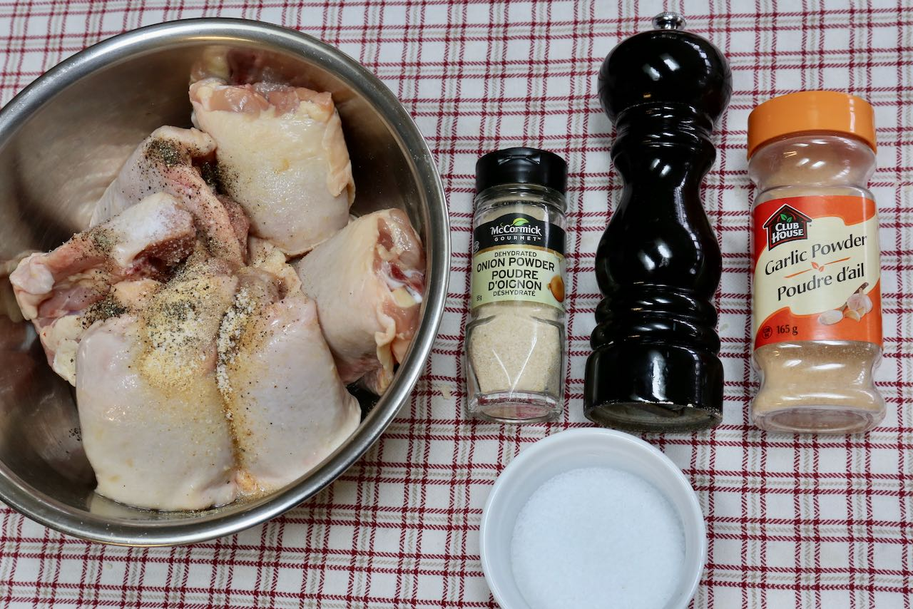Ingredients you'll need to make homemade Chicken Cracklings.