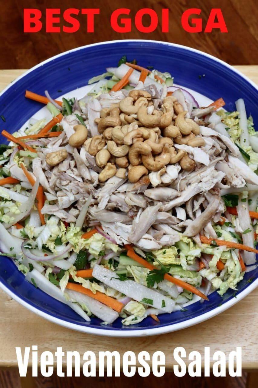 Goi Ga Chicken Salad with Cashews.