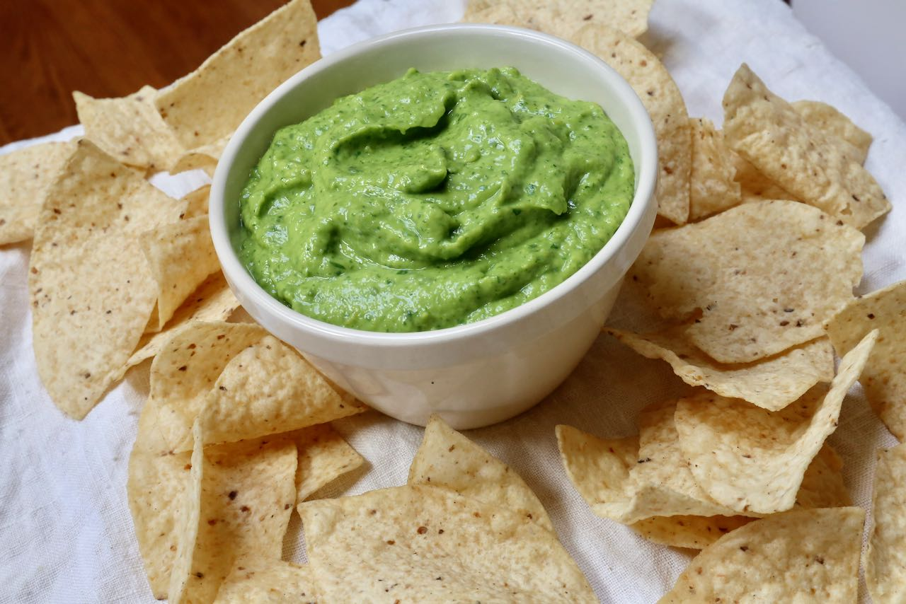 Guasacaca is a healthy, vegan, gluten free dip and sauce from Venezuela.