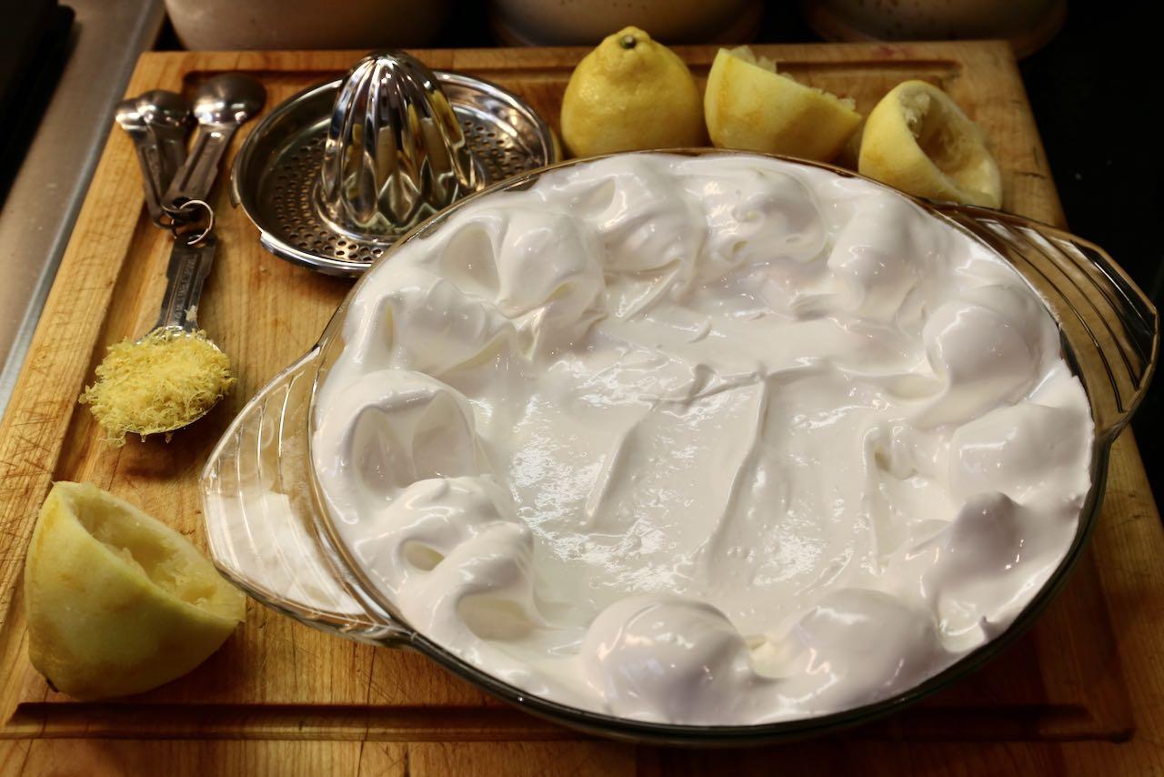 Gluten Free Pie Crust: Scoop meringue into a greased pie plate before baking.