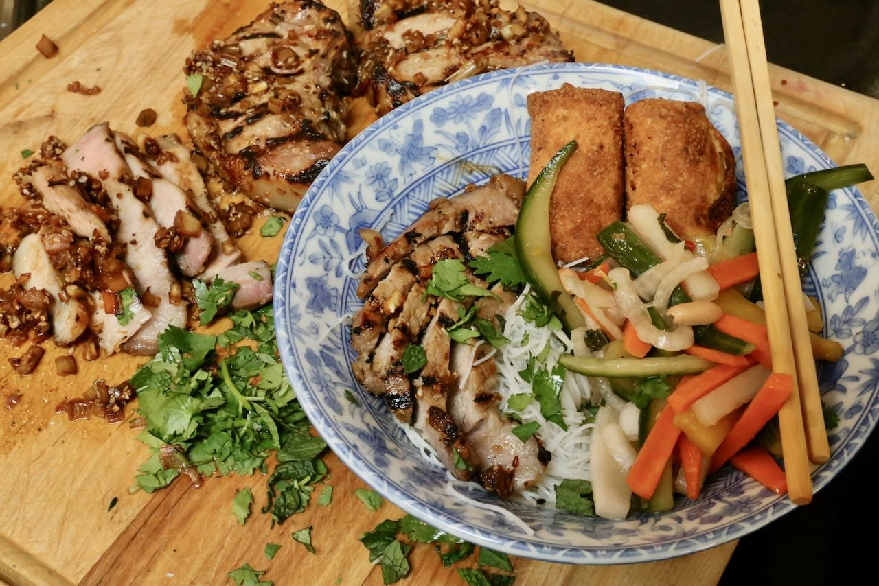 "Best Vietnamese Grilled Pork ""Bun Thit Nuong"" Recipe"