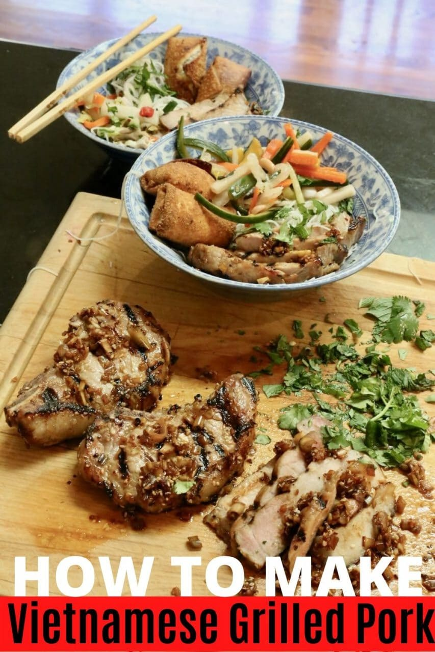 Save our Bun Thit Nuong Vietnamese Grilled Pork recipe to Pinterest!