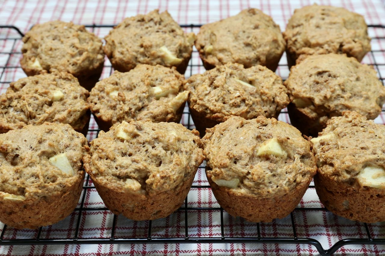 Healthy Bran Muffins with Applesauce.
