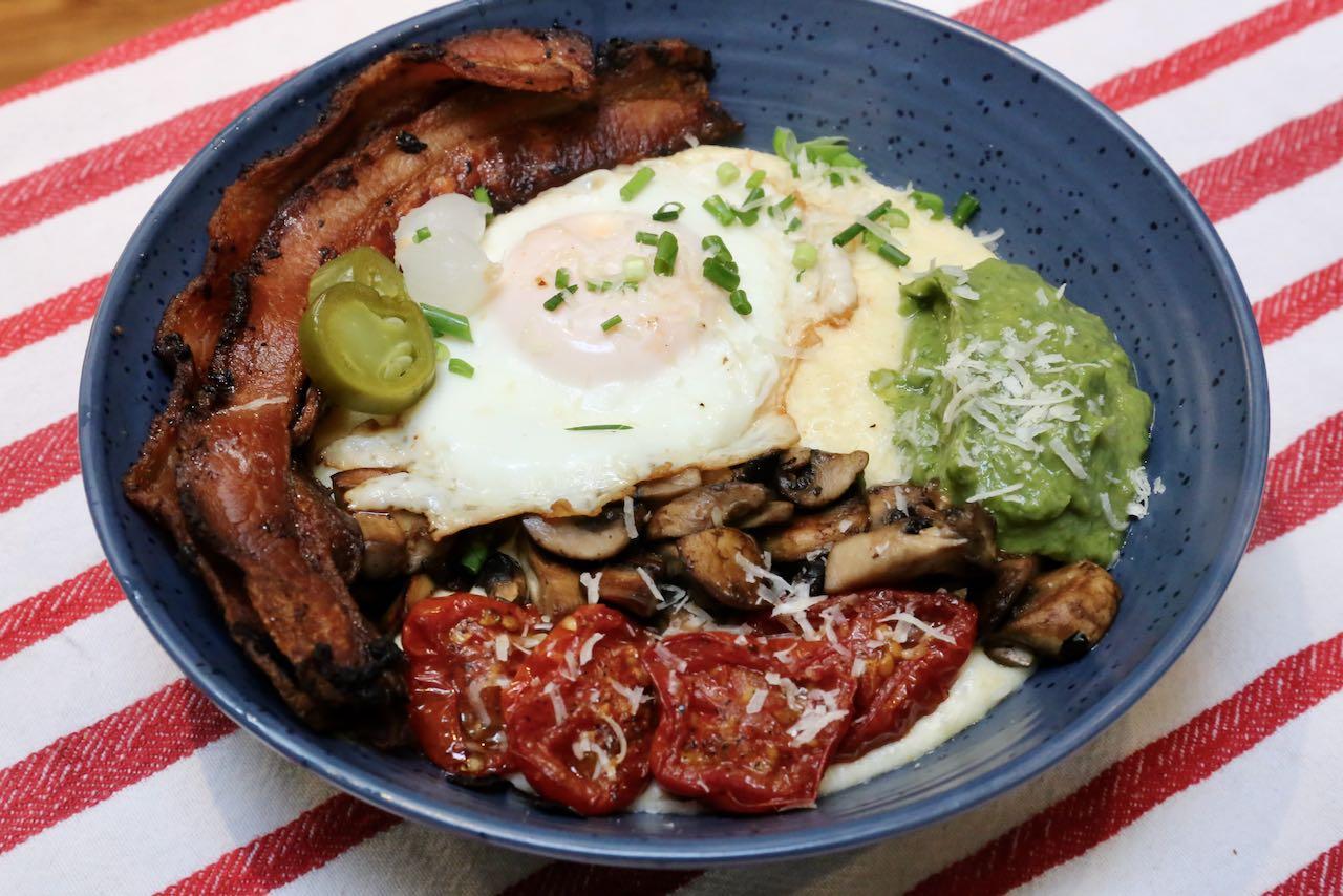 Healthy Breakfast Polenta Bowl Recipe