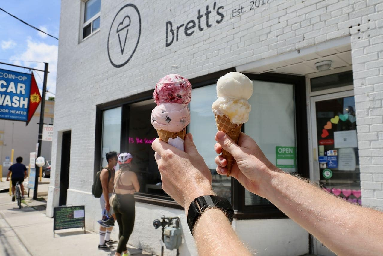 Brett's is a popular ice cream shop near Woodbine Beach in The Beaches.