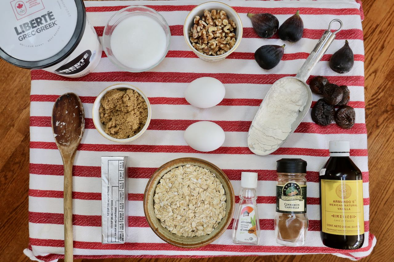 Ingredients you'll need to make Fresh Fig Muffins.