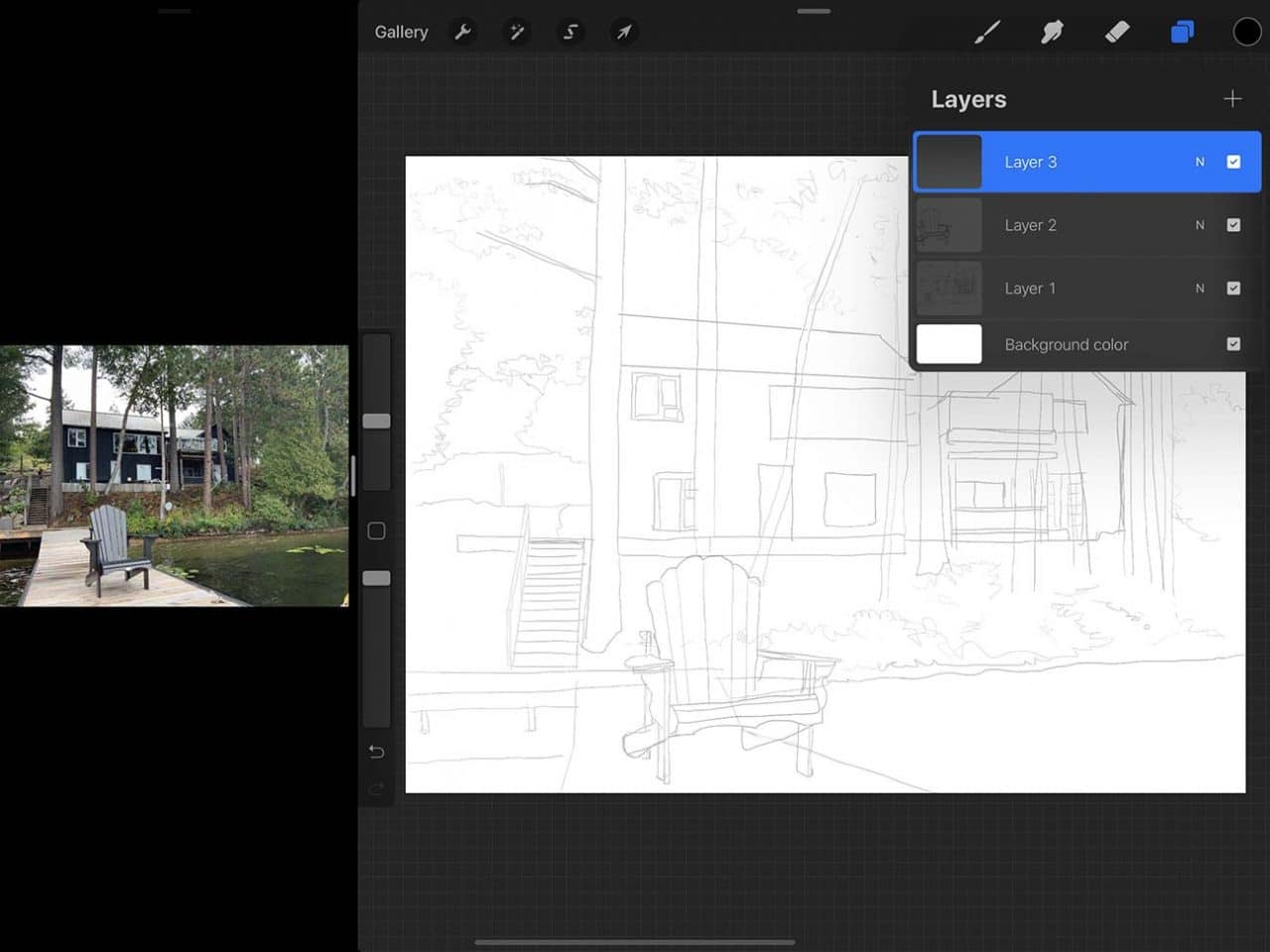 Procreate tutorial: iPad Pro makes setting up a convenient split screen for working easy