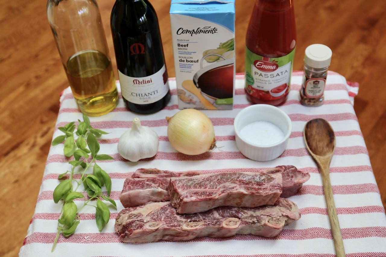 Ingredients you'll need to make Instant Pot Short Rib Ragu.