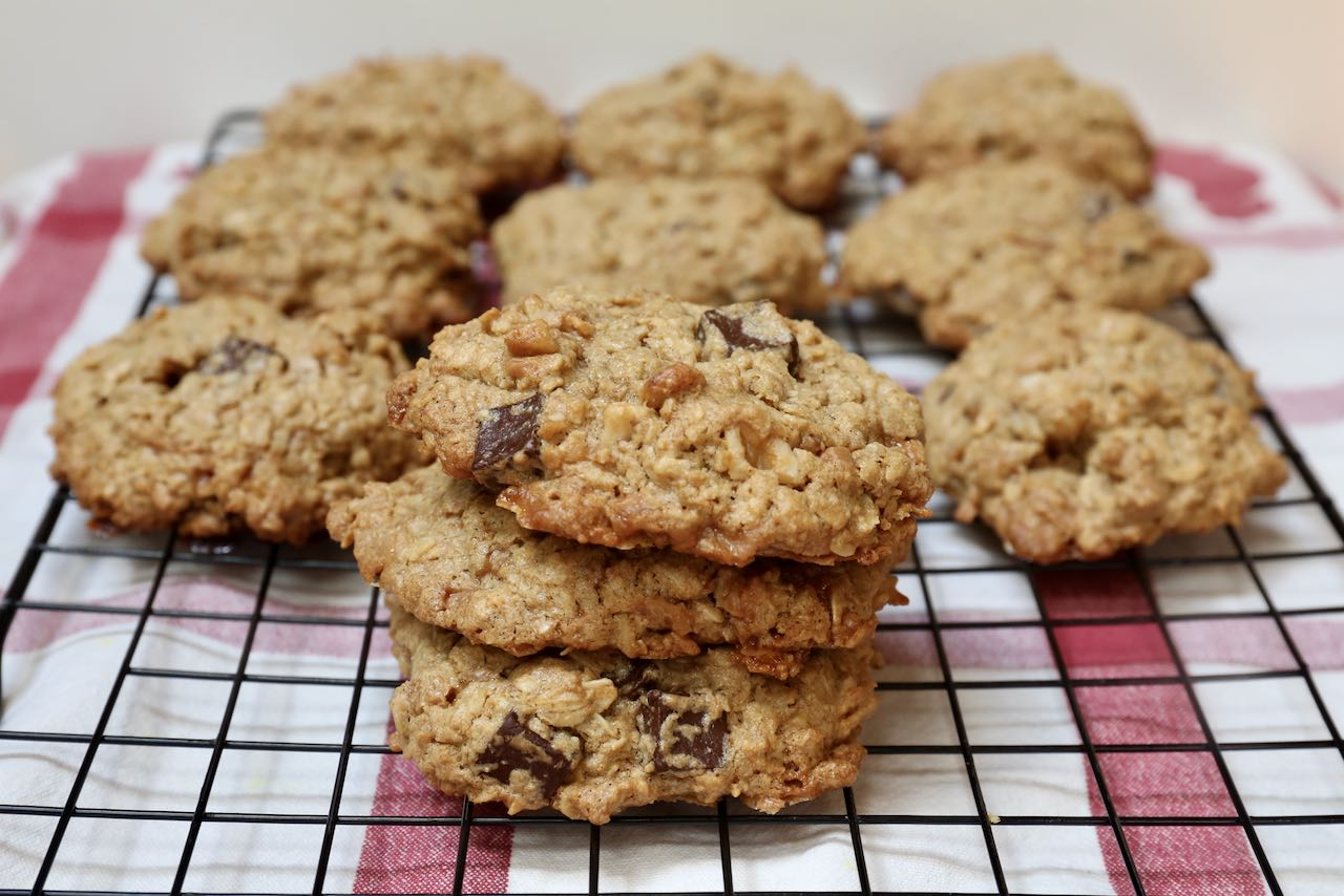 Store Oat Flour Cookies in an air tight container or zip lock bag for up to a week.