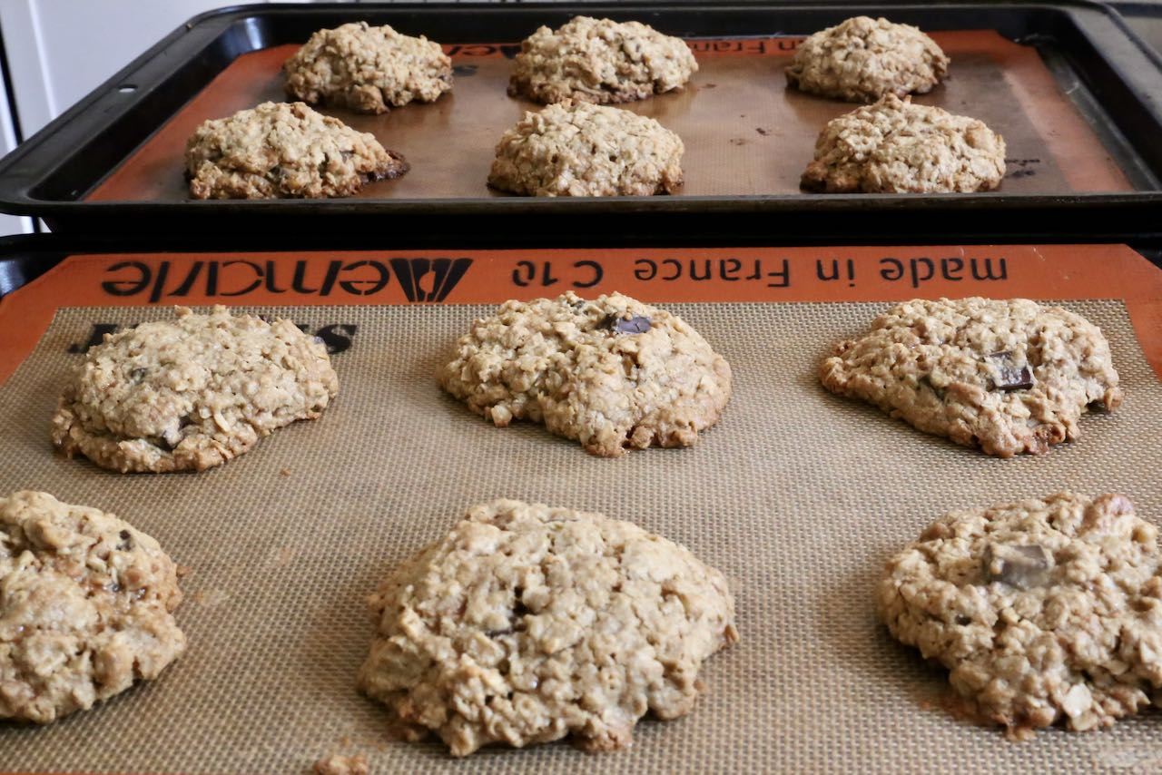 Let Oat Flour Cookies cool to room temperature after baking.