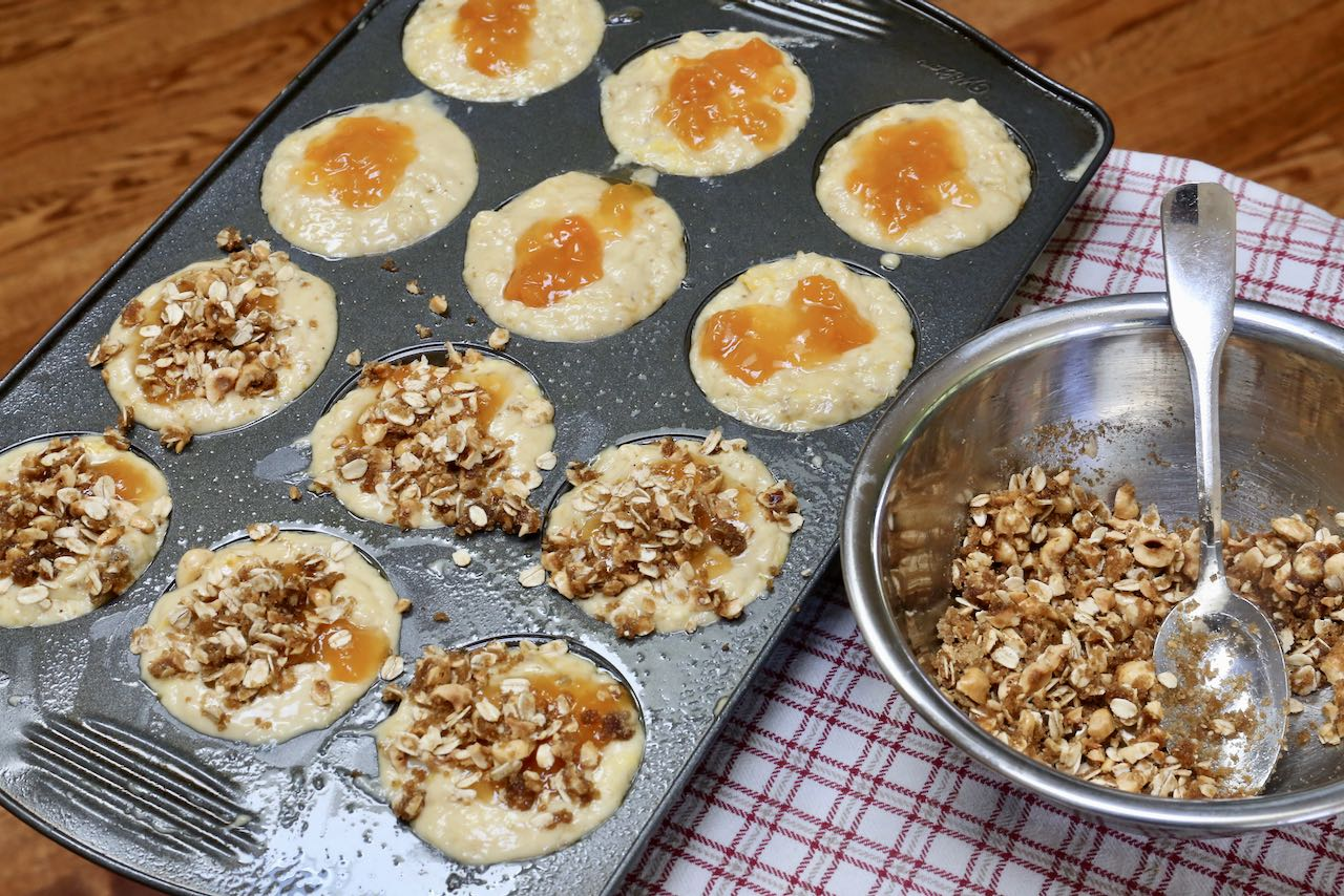 We love baking Peach Cobbler Muffins in the summer.