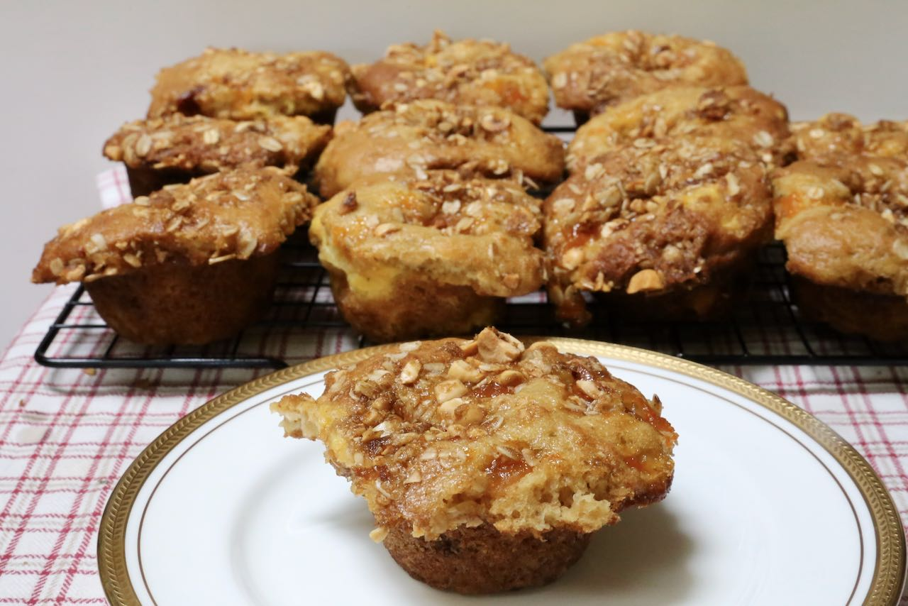 Serve Peach Cobbler Muffins with butter, cream cheese or ricotta.