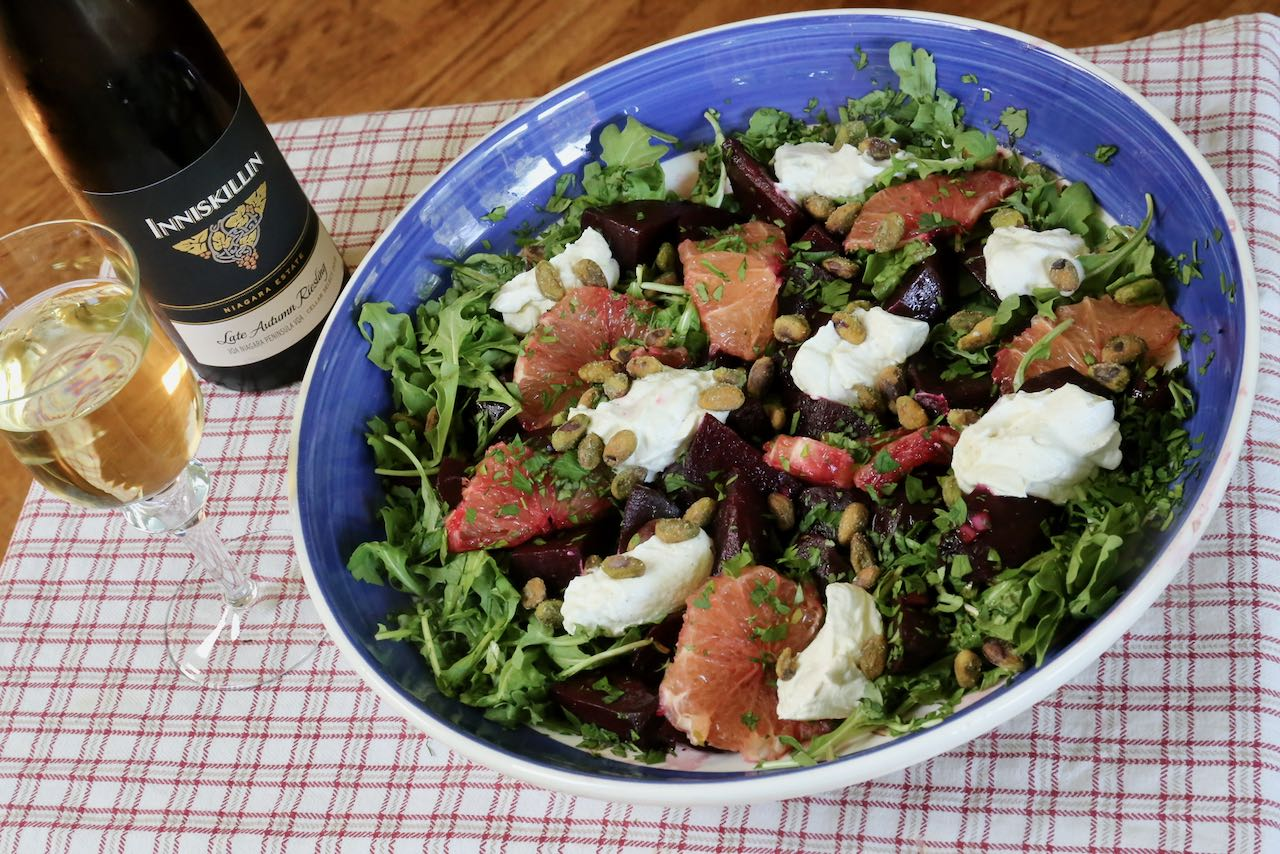 Pair our Roasted Beet Salad recipe with your favourite dry white wine.