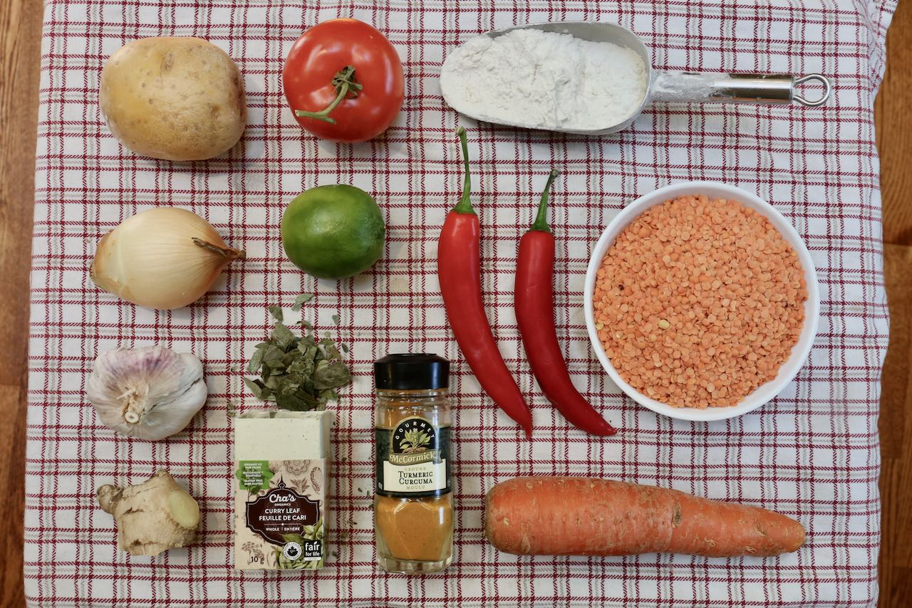 Ingredients you'll need to make our healthy Roti Canai Curry Recipe.
