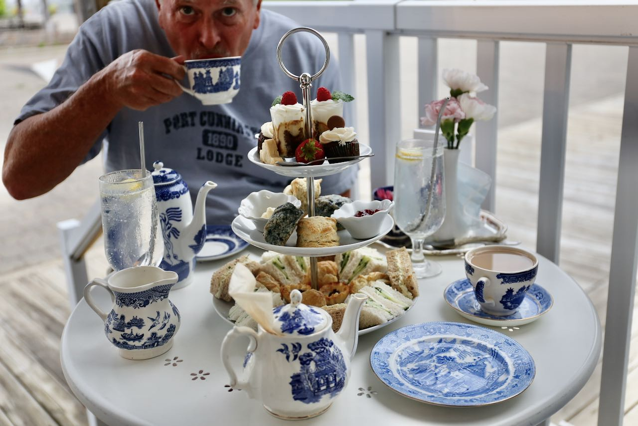 Blue Willow Tea Shop serves Muskoka's best High Tea at the Gravenhurst Wharf.
