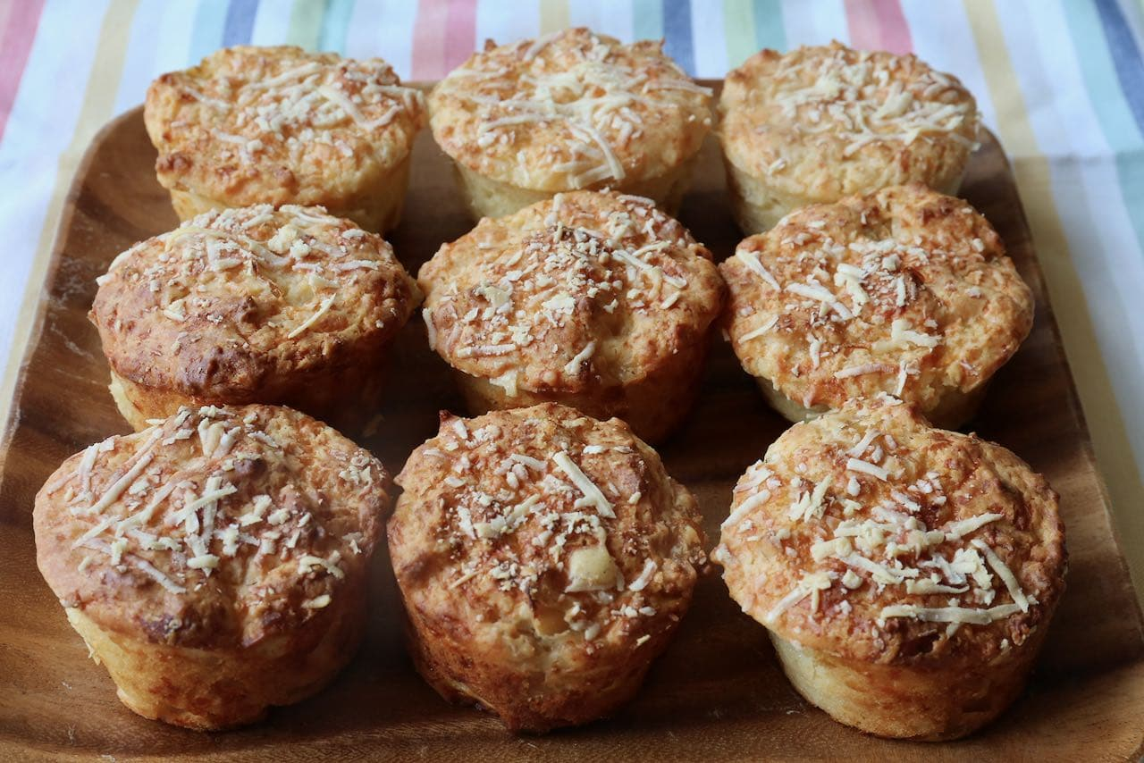 Cheese and Onion Muffins are an easy on the go breakfast or afternoon snack.