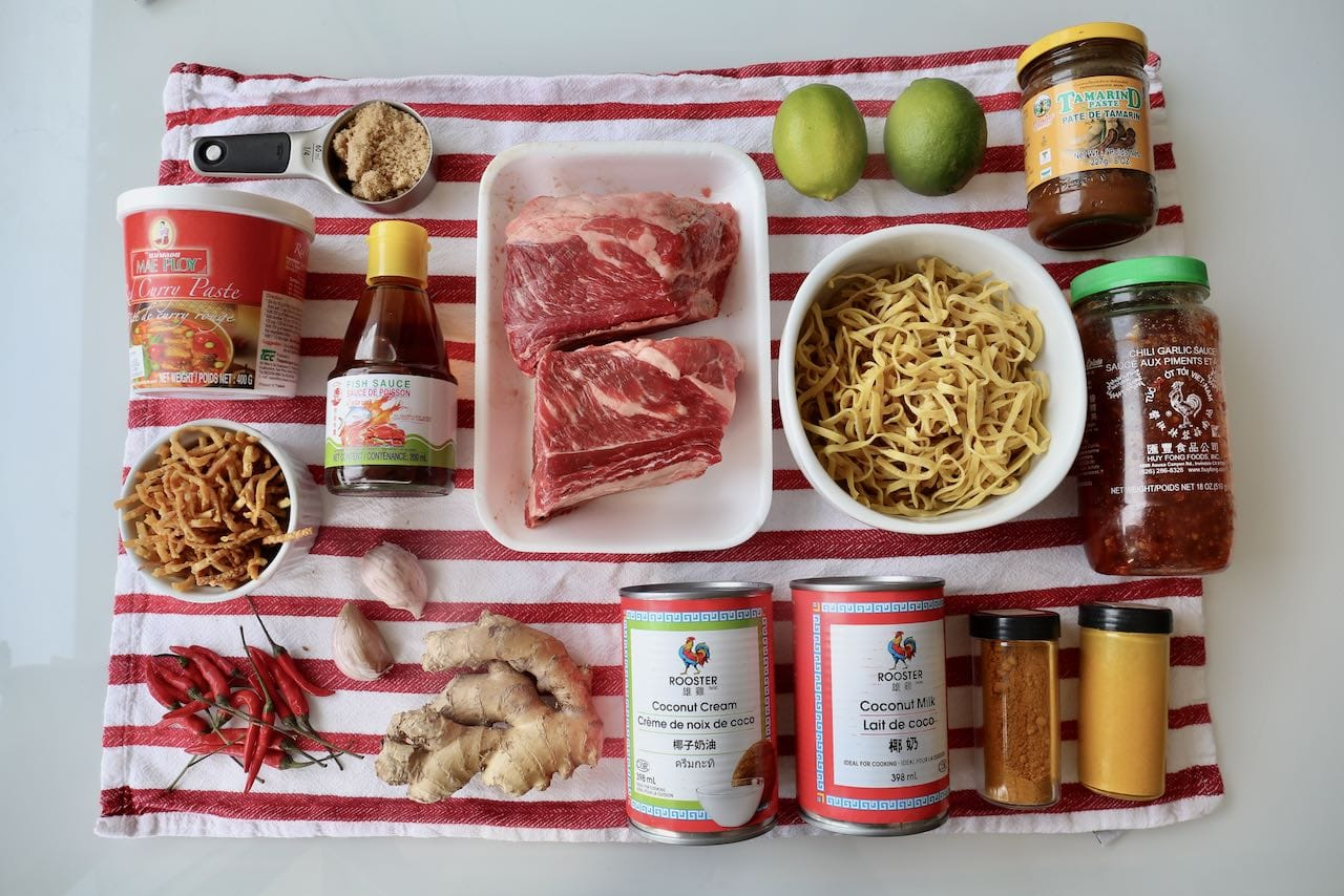 Ingredients you'll need to make our Chiang Mai Noodles recipe.