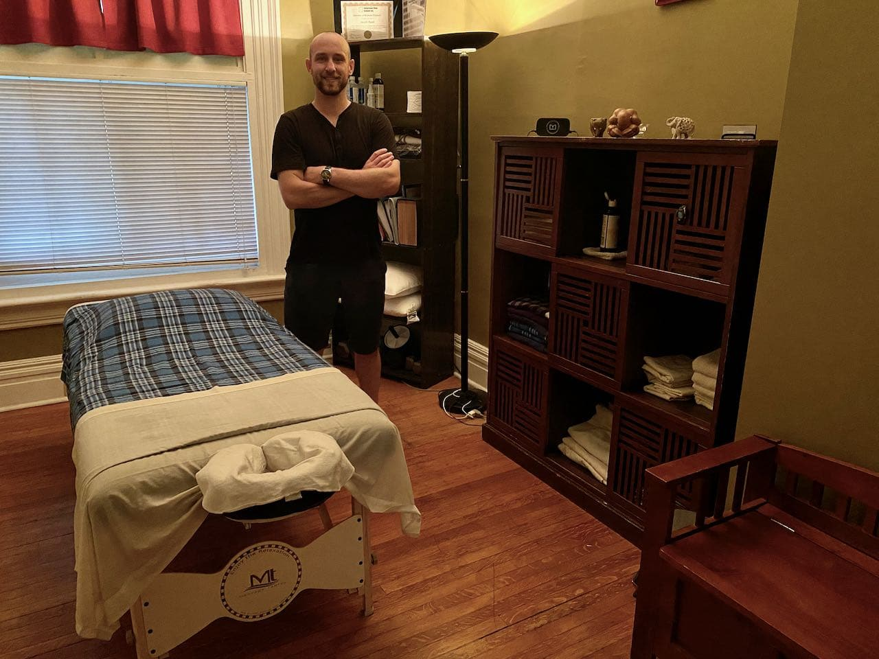 Joe Ryan offers registered massage therapy services at his home in Parkdale.