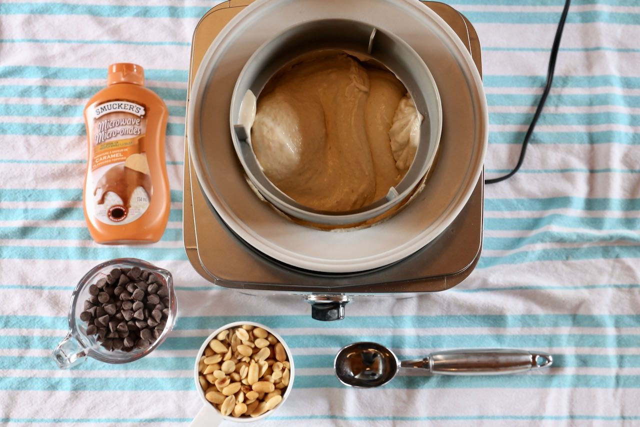 We make our easy Banana Nut Ice Cream recipe in a Cuisinart ice cream maker.