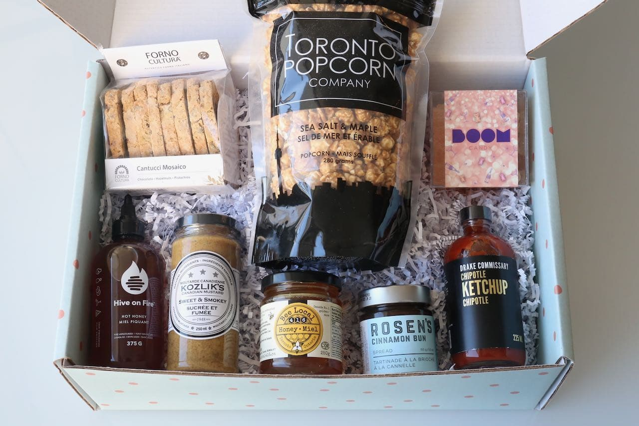 FoodiePages specializes in featuring local Toronto food companies in gift baskets.