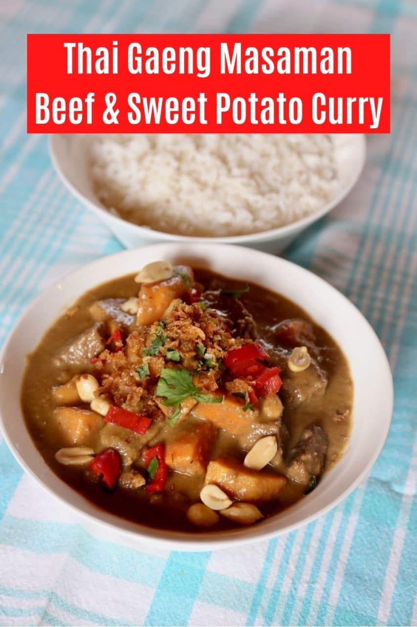 Save our Authentic Massaman Curry recipe to Pinterest!